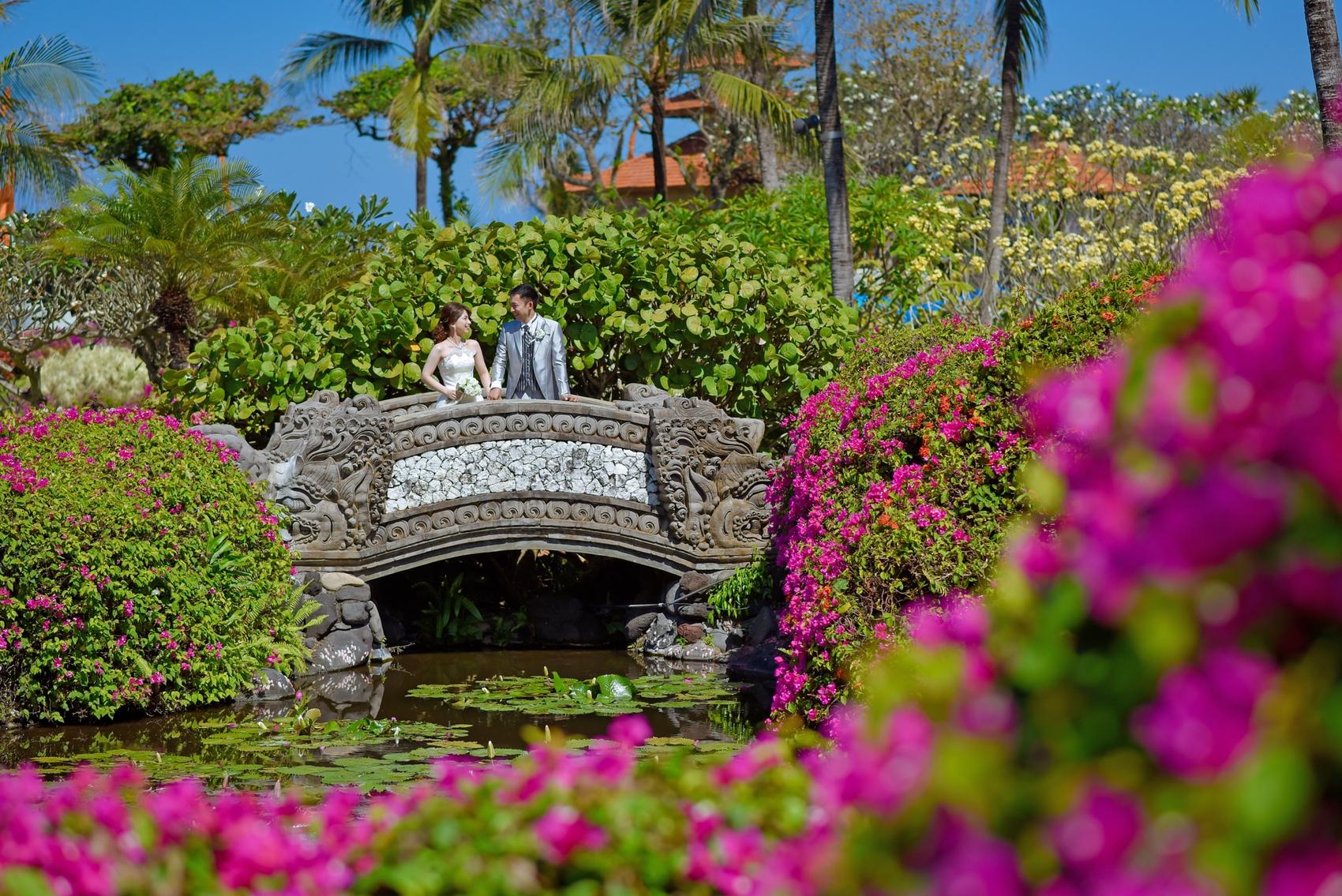 バリ島グランドハイアットで結婚写真