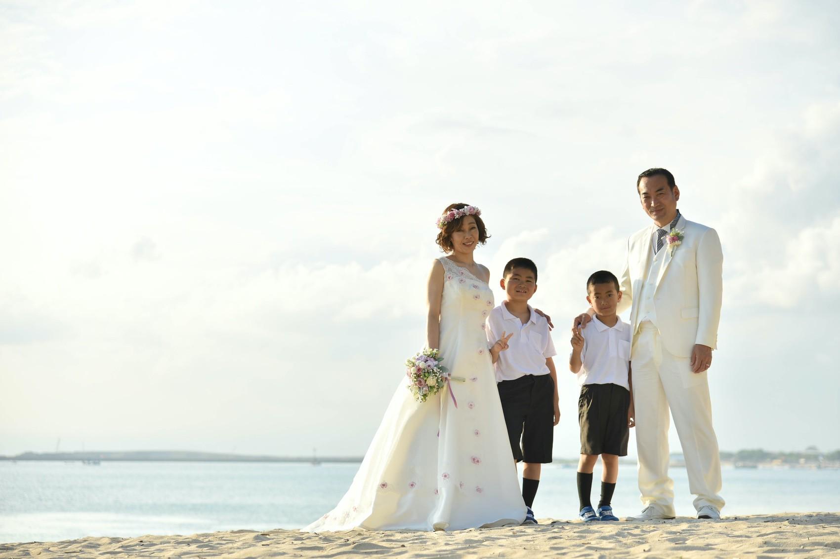 バリ島家族写真