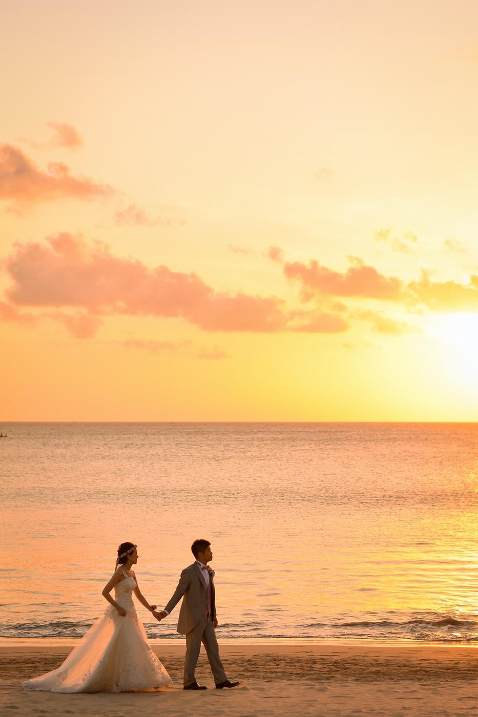 ジンバランビーチのサンセット