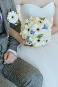 ガーベラと紫陽花のブーケ