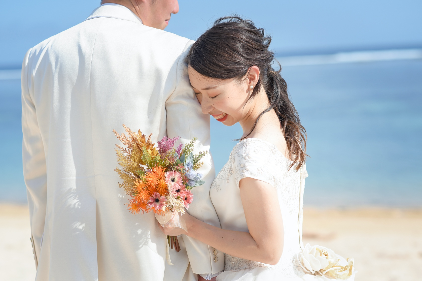 笑顔が可愛い花嫁様です