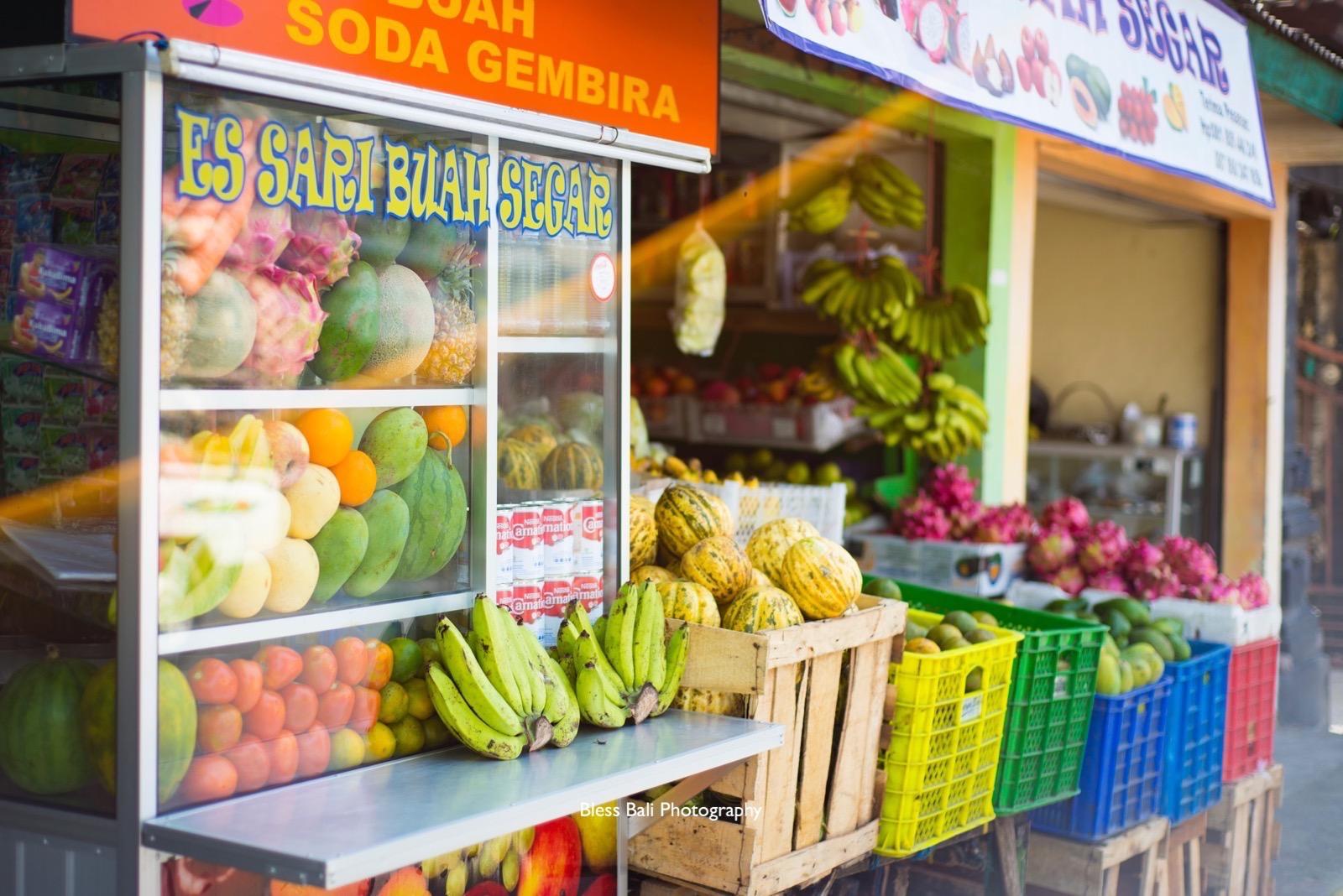 バリ島のフルーツ屋さん