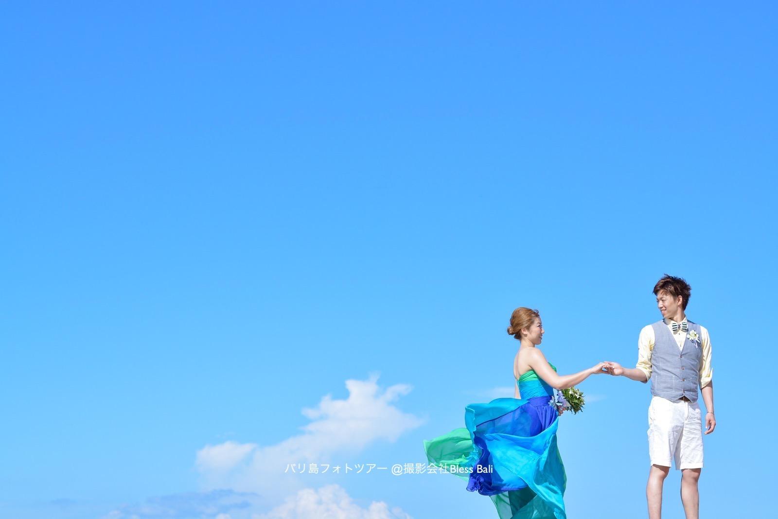 鮮やかなグリーンxブルーのドレスが素敵なR様