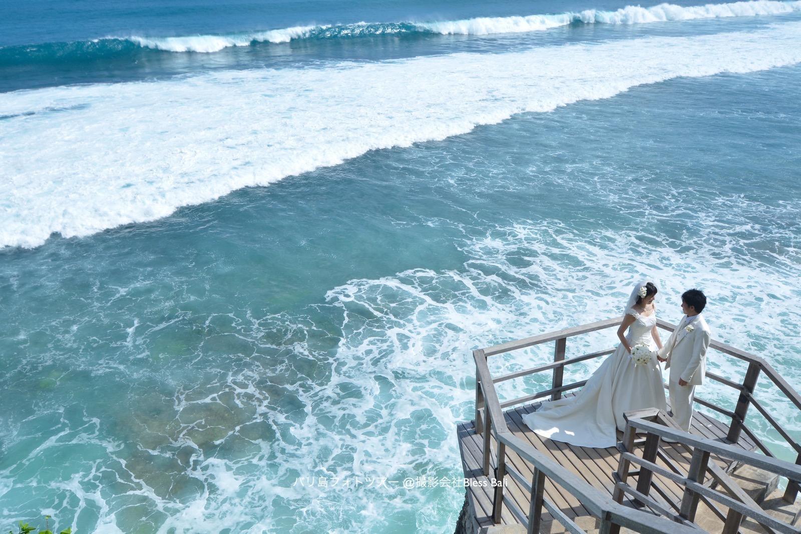 バリ島ブルガリホテルで結婚写真