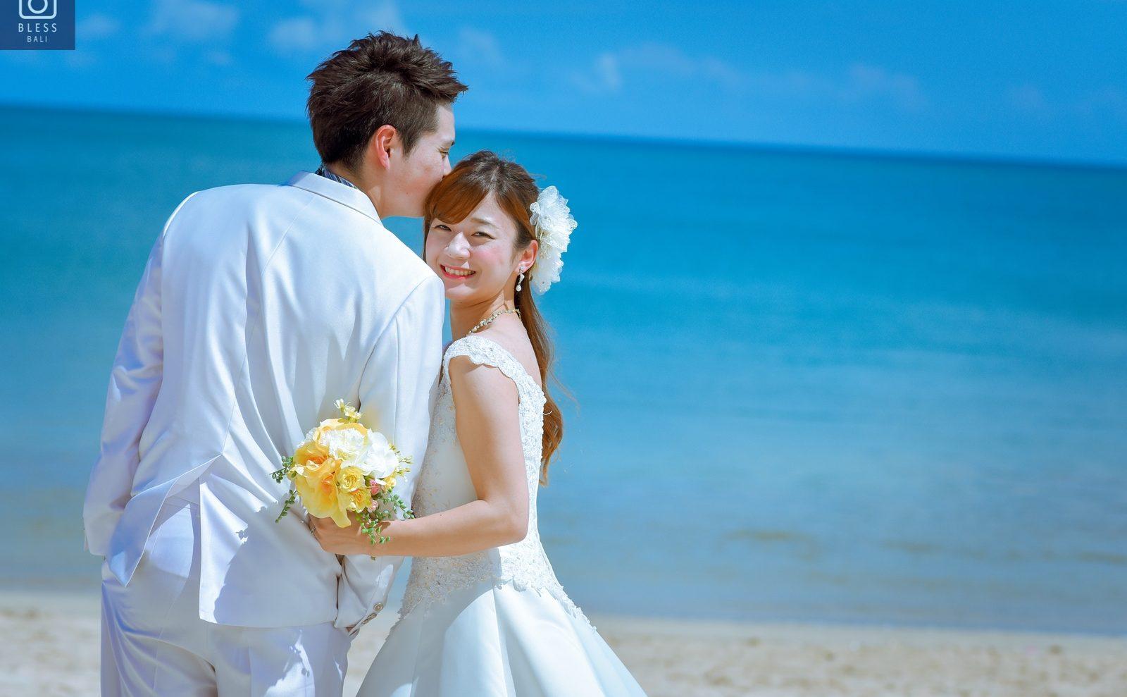 【お客様レポ#199】Jimbaran beachで青空ビーチフォト H&H様
