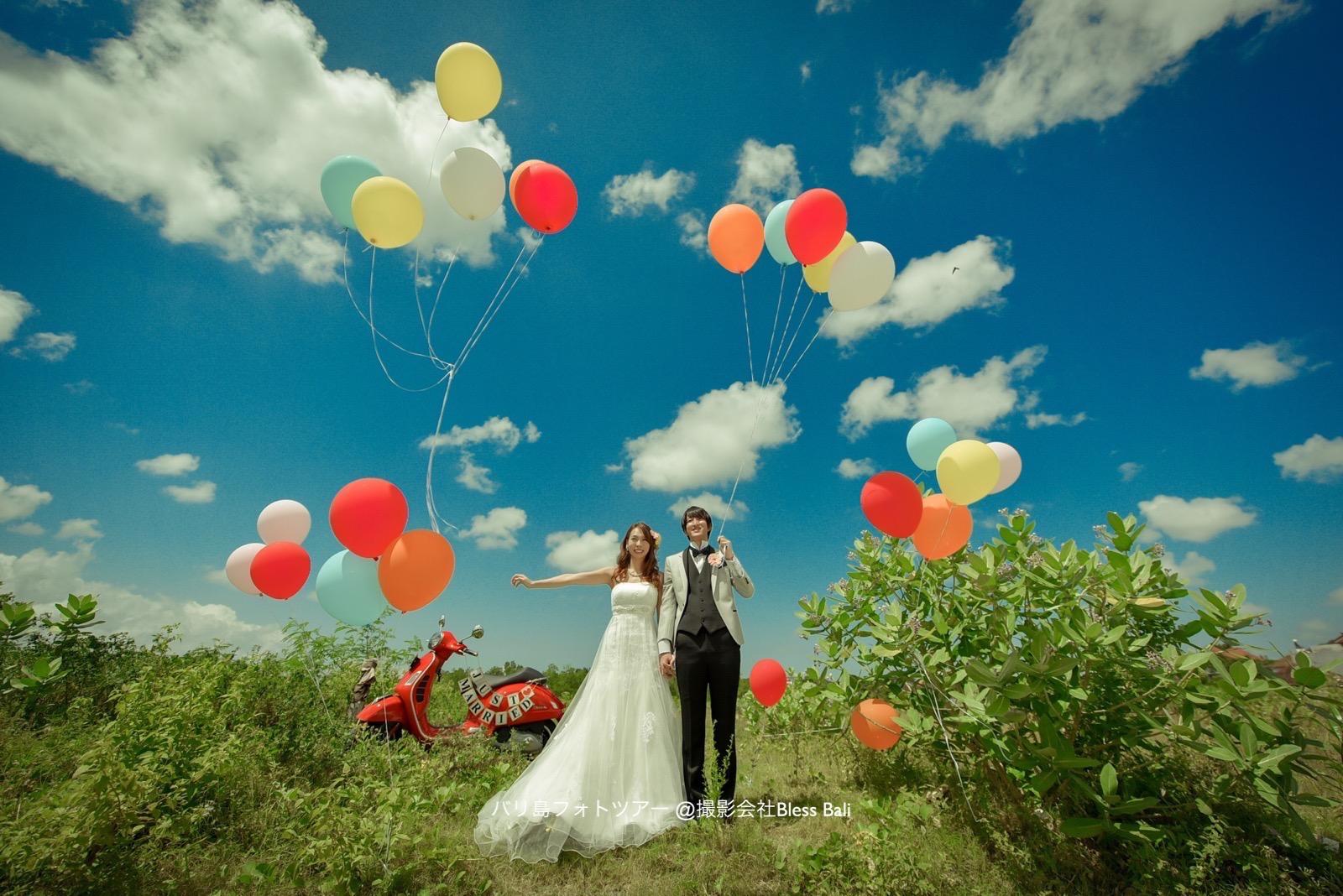 バリ島 花嫁と花婿とバルーン!