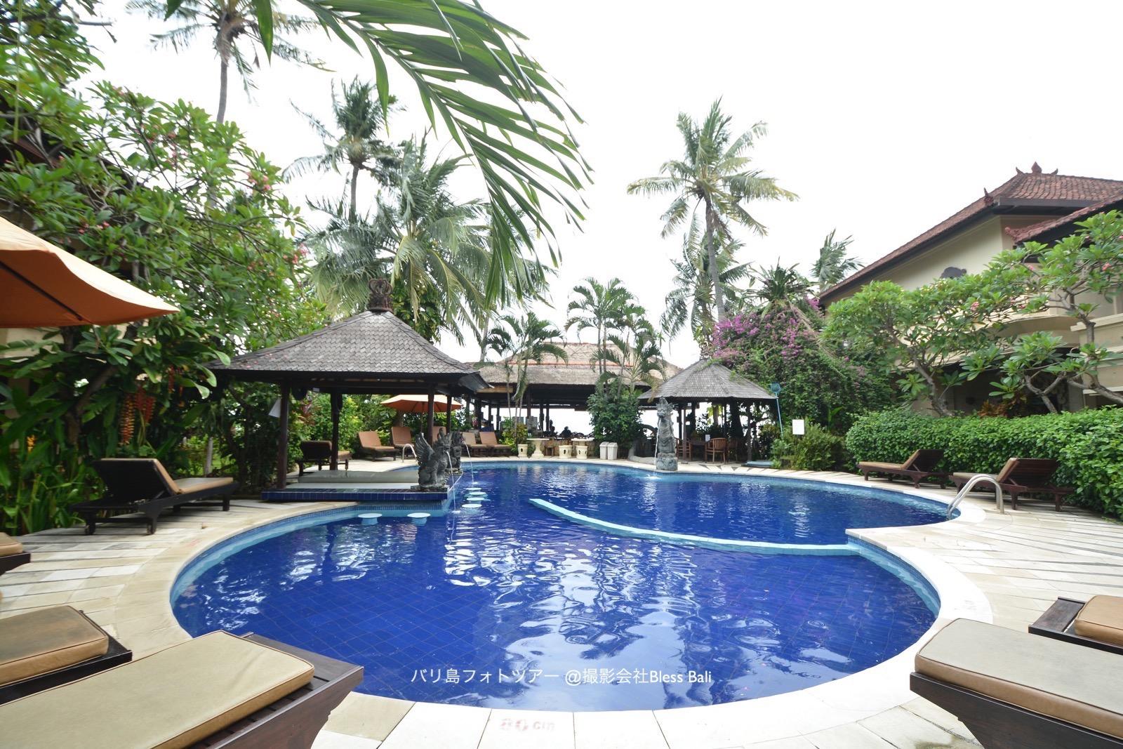 ホテルのひょうたん型プール