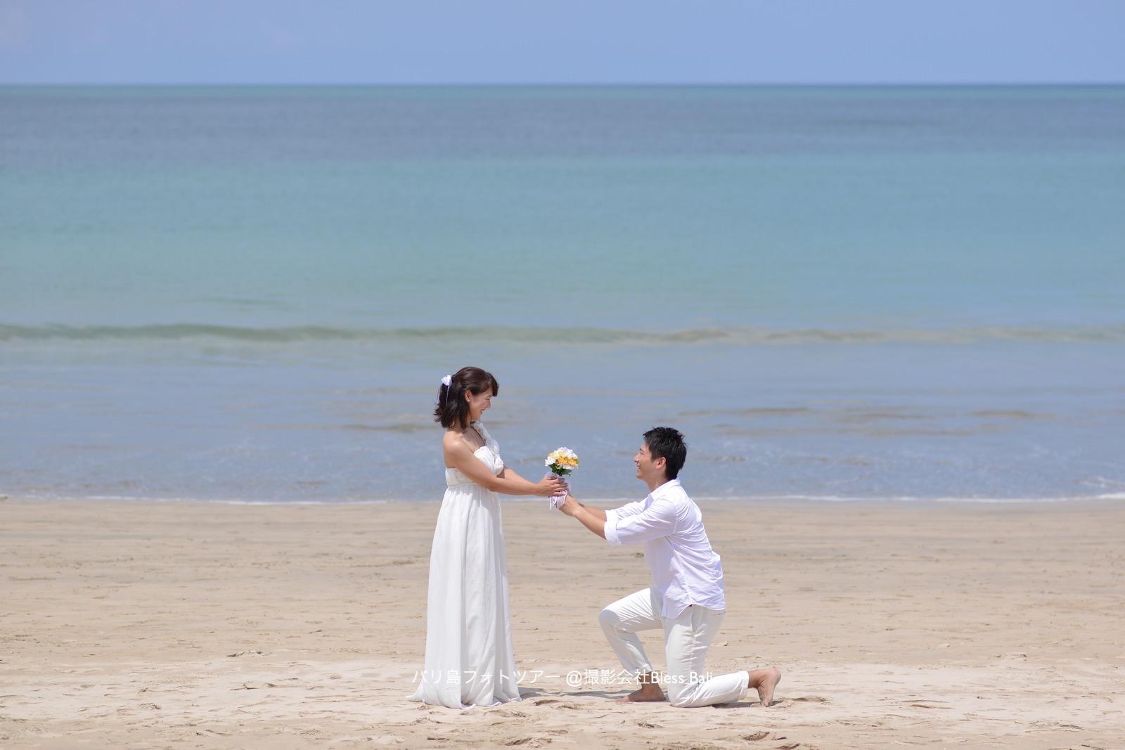 ビーチで再現、プロポーズカット♡