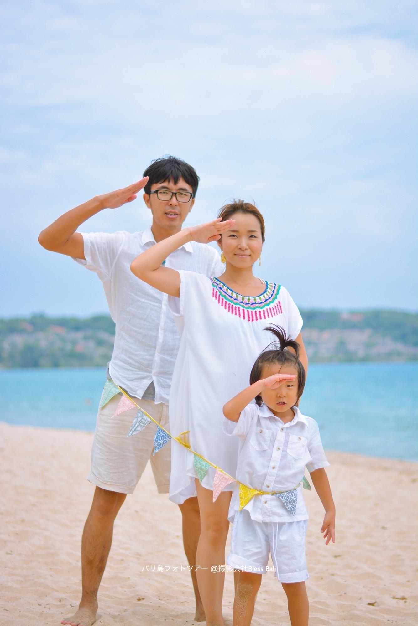 バリ島家族でフォトツアー