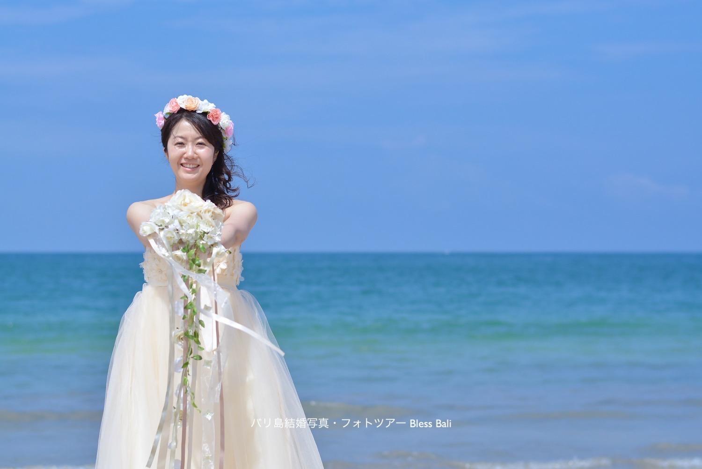 バリ島青空ビーチフォト ティノ撮影