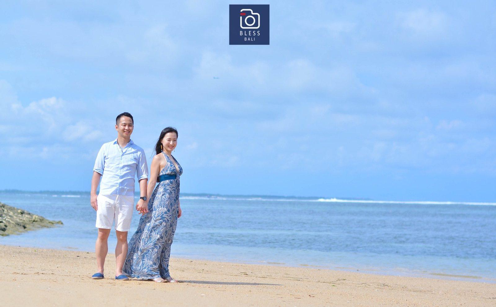 【お客様レポ#182】ブルーのドレスが素敵なリゾートフォトツアーY&Y様(13枚)