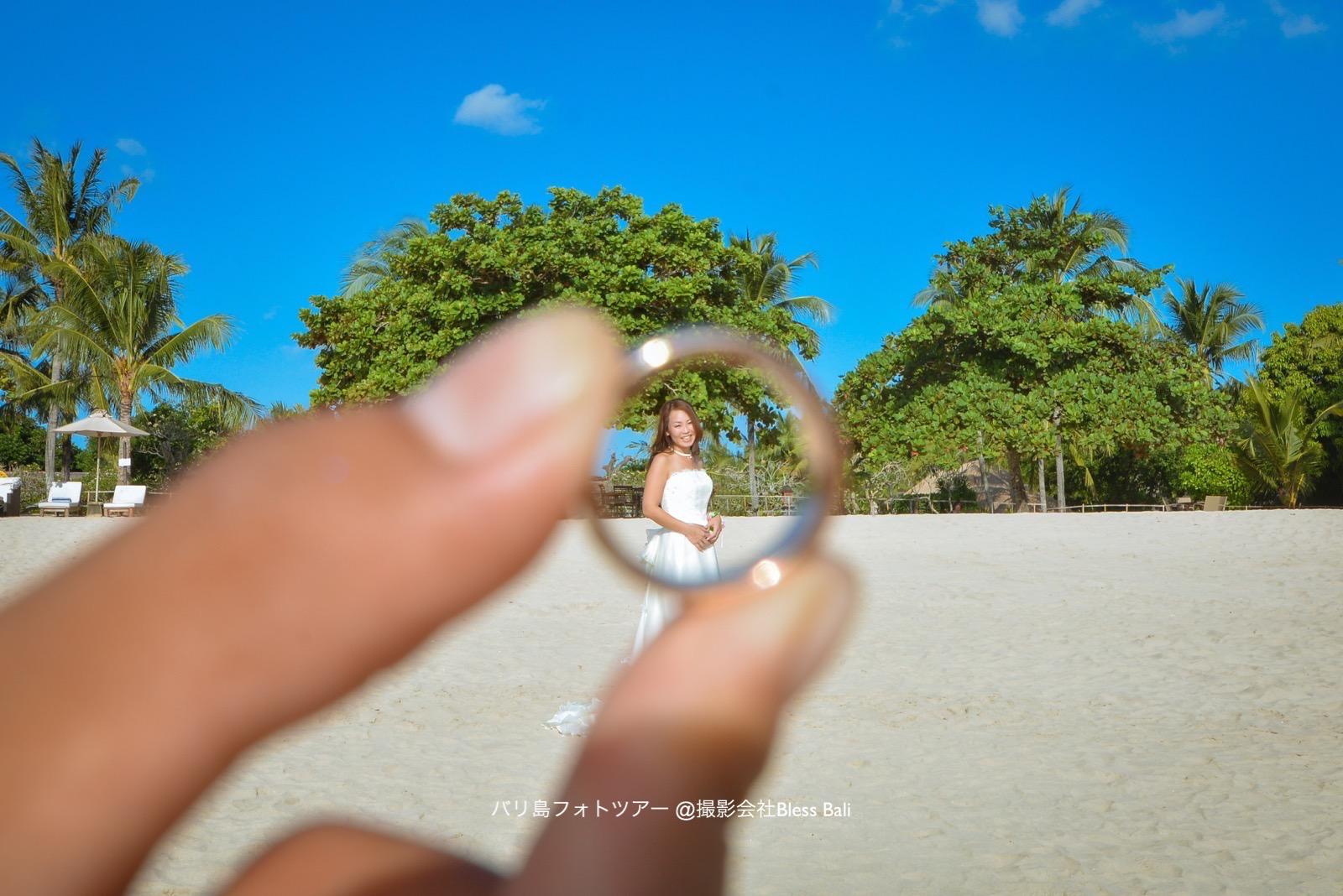 大切な結婚指輪の中に花嫁を発見♡