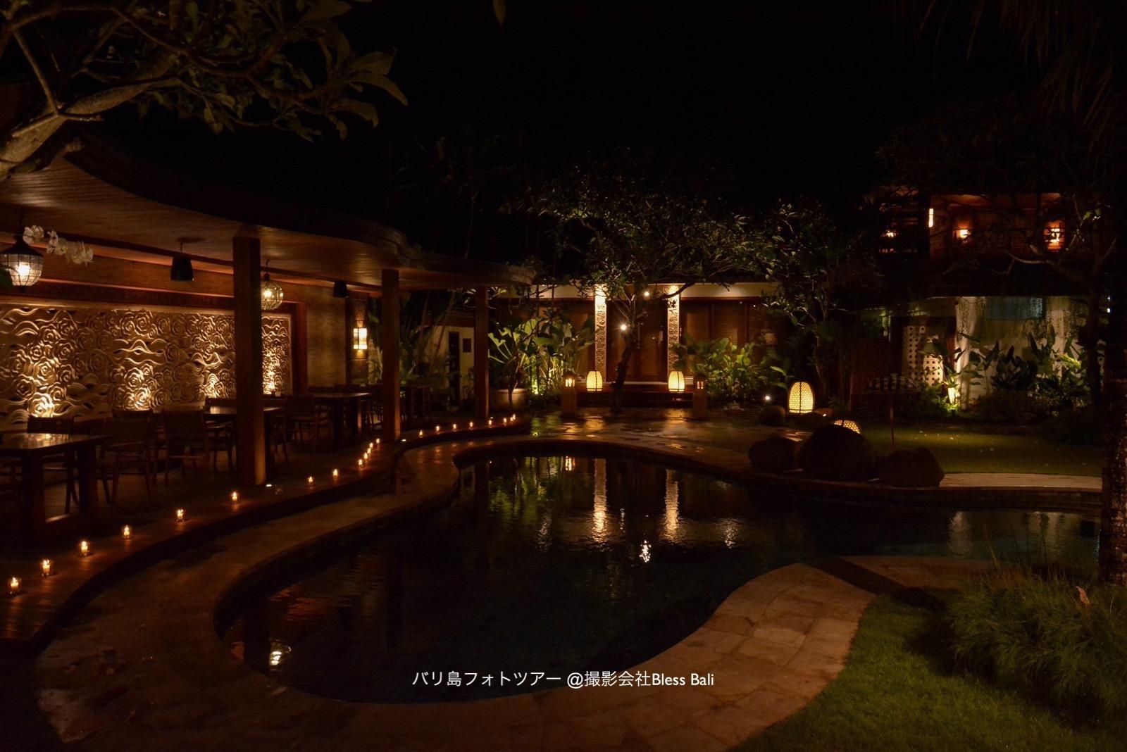 ロマンチックな雰囲気のnoosaレストラン