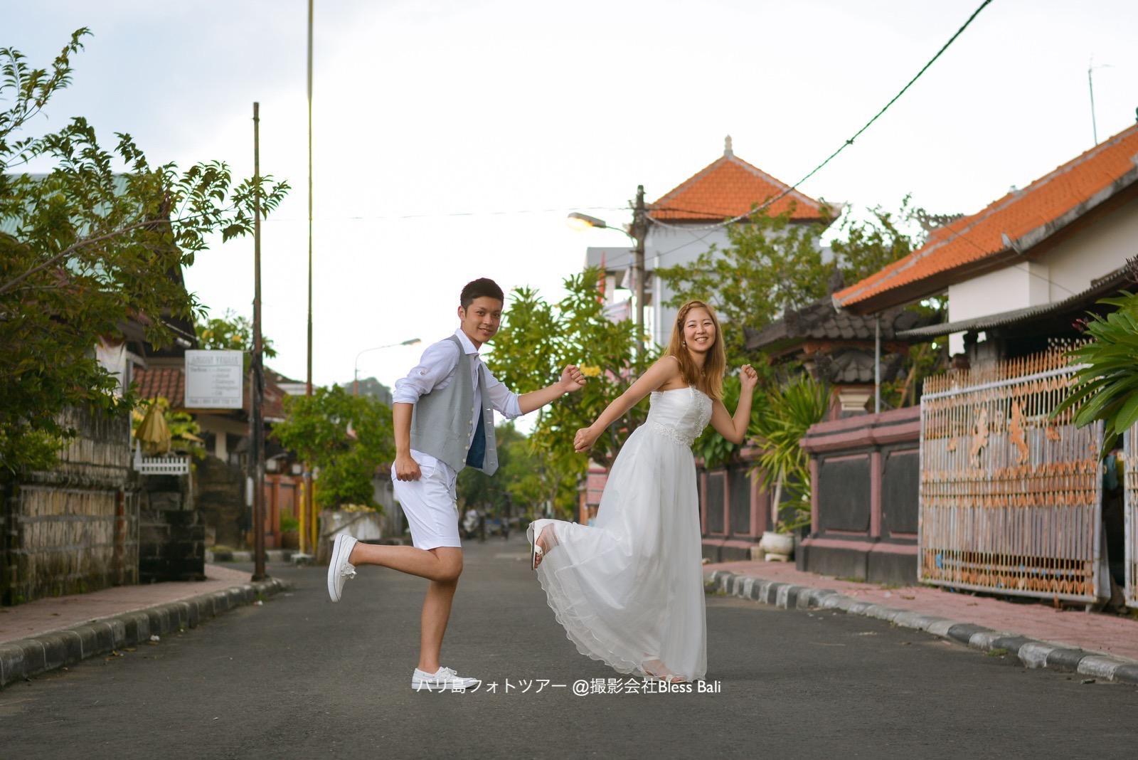バリ島タウンフォト撮影