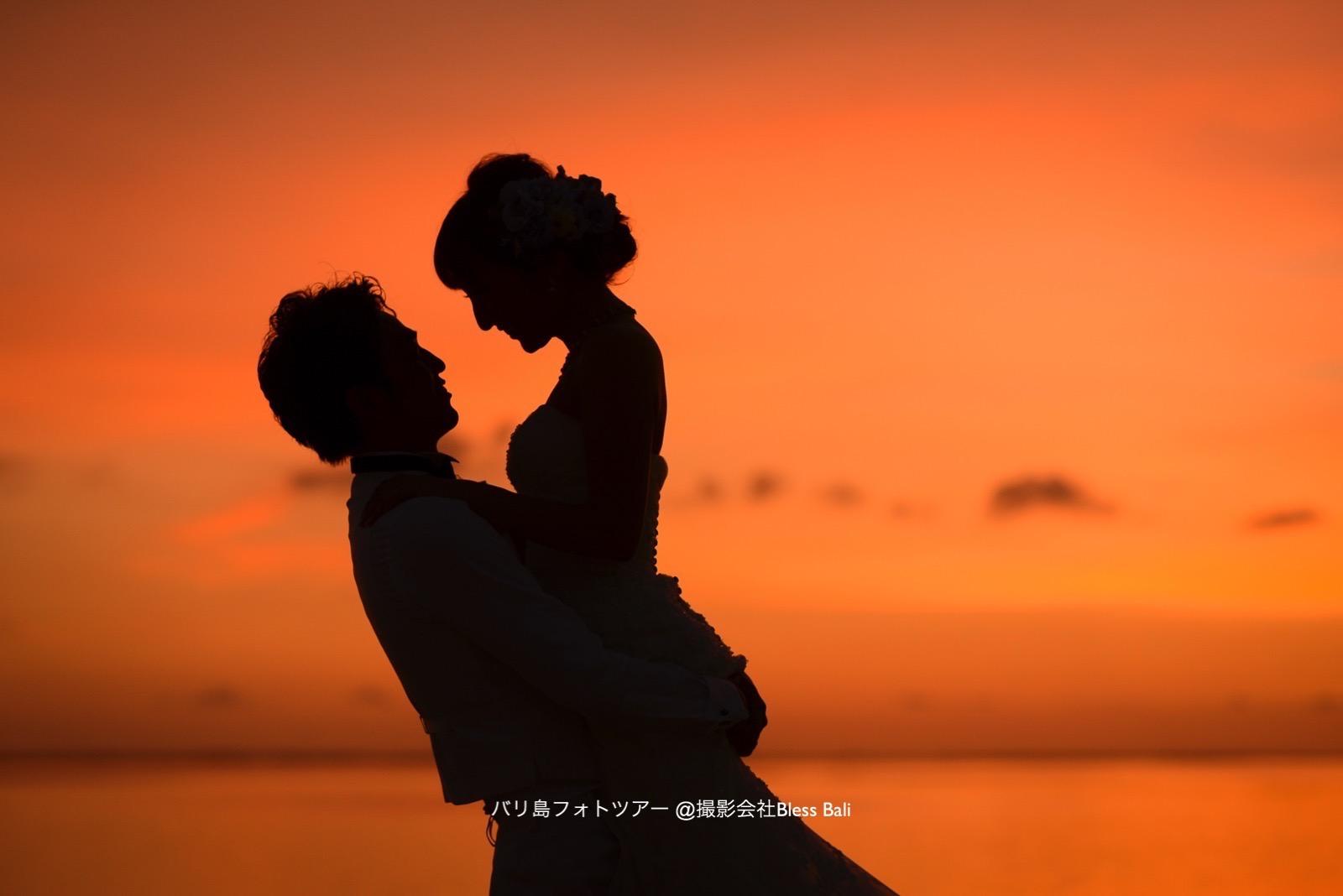 ロマンチックなシルエットフォト