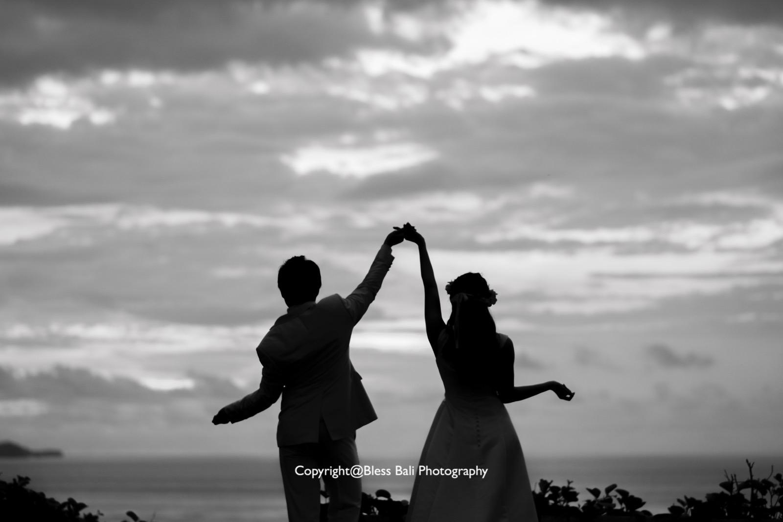 夕日のダンスショット