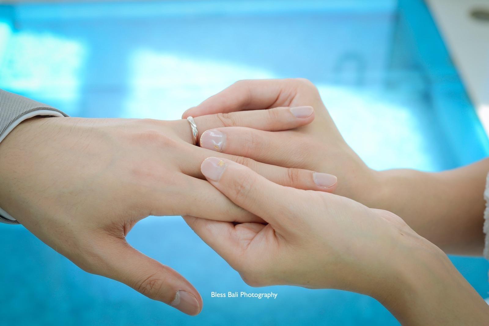 指輪交換シーン