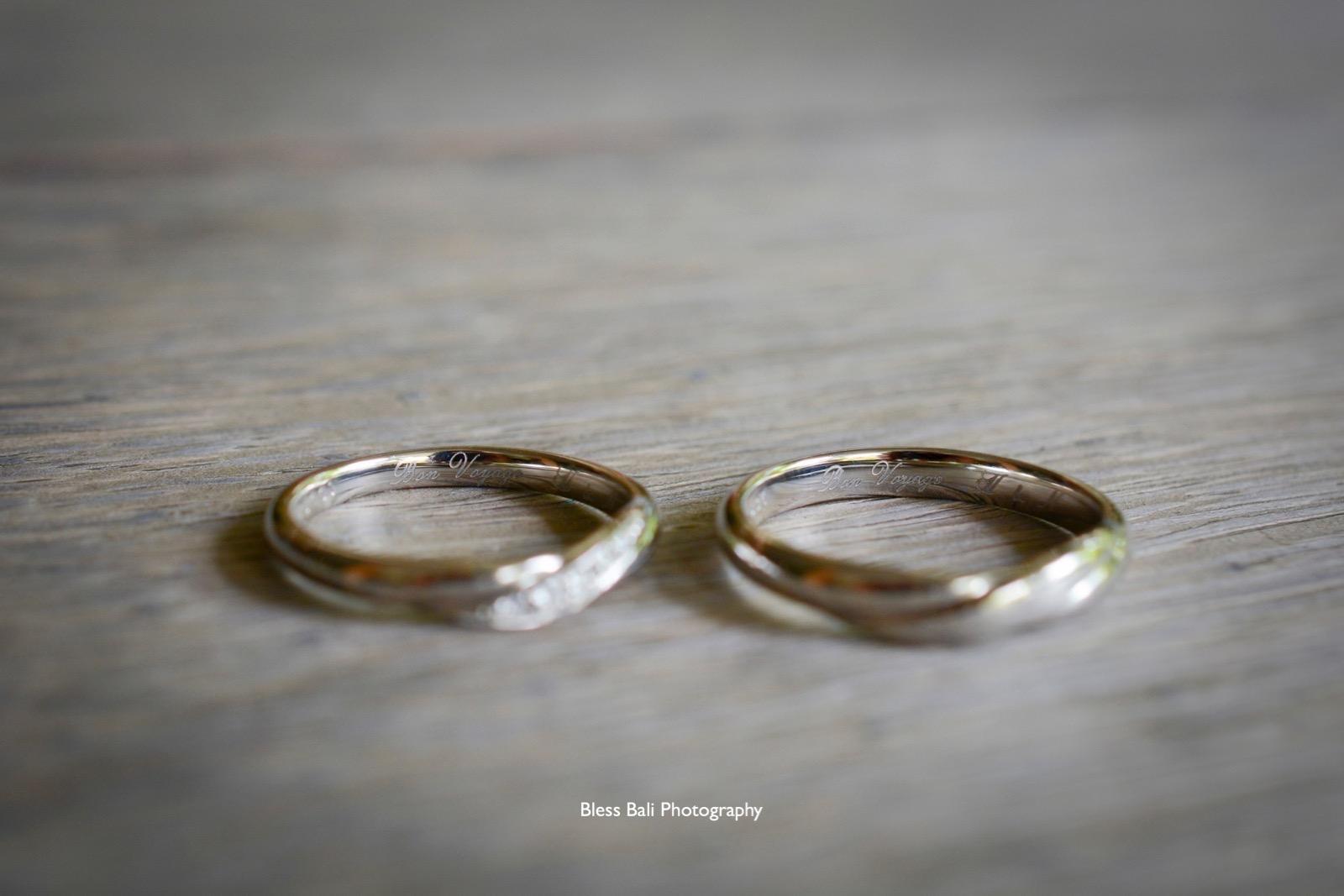 刻印入りの結婚指輪