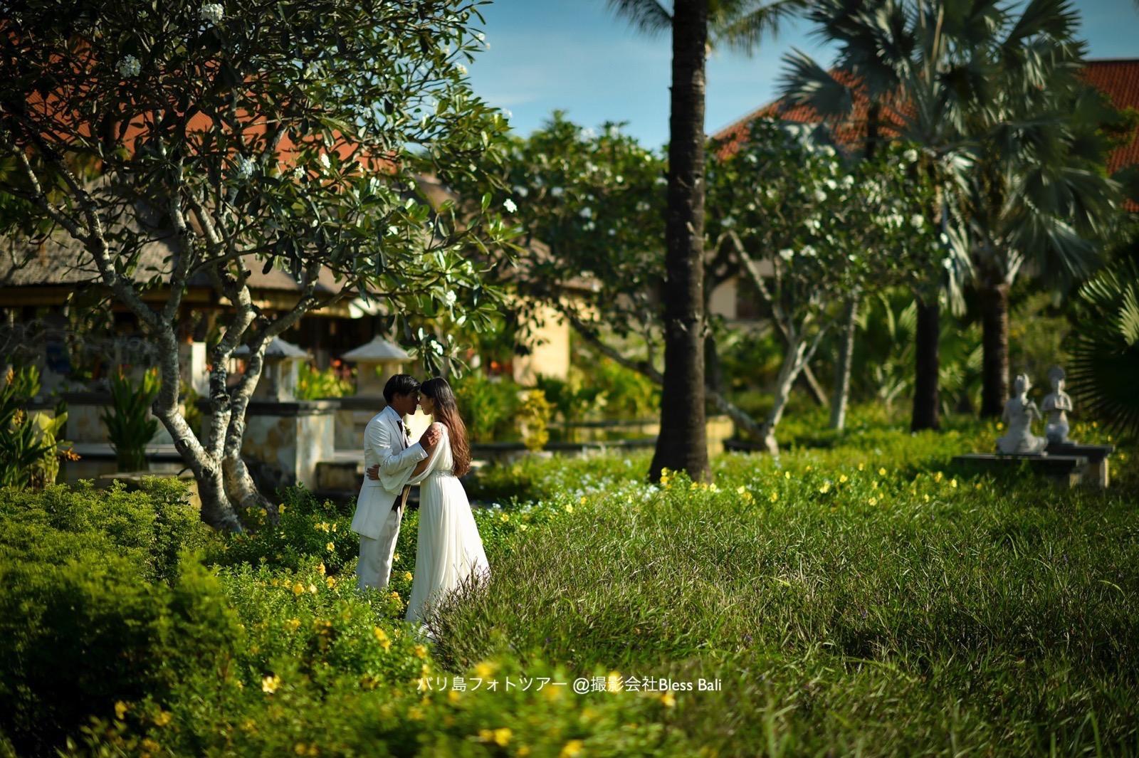 アヤナリゾートでウェディングフォト ガーデン