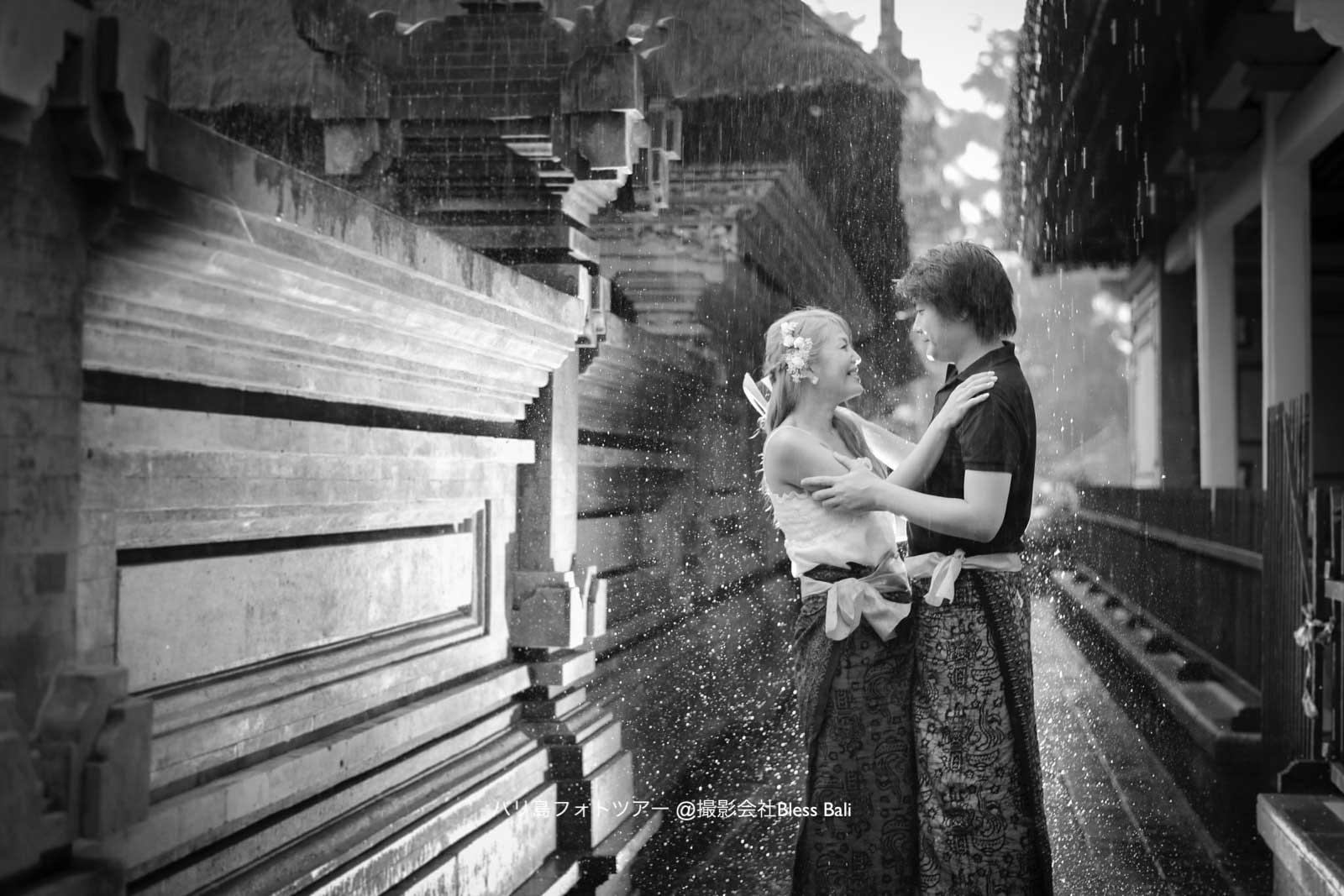 ティルタエンプル寺院で念願のレインフォトも撮影できました♪