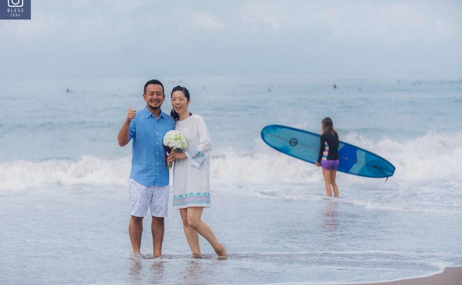 【お客様レポ#190】サーファーのお二人をチャングービーチで撮影!サーフィンフォトも K&E様